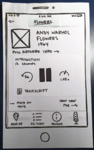 Paper prototype of Out Loud with a card-based design